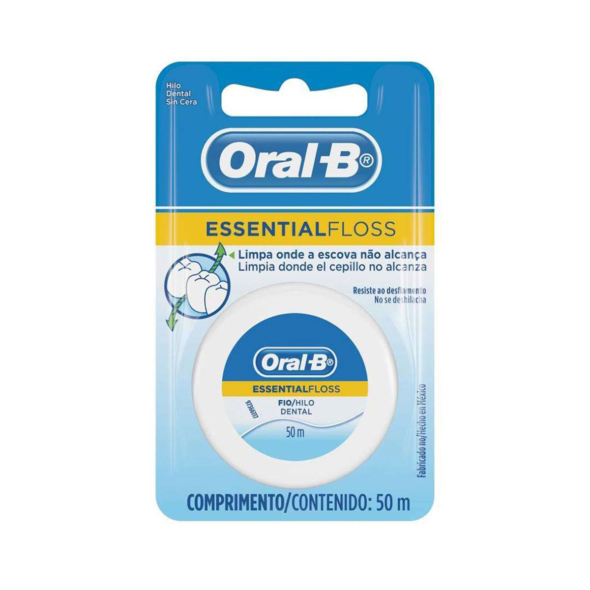 HILO DENTAL ESSENTIAL FLOSS S/CERA 50 MTS ORAL-B